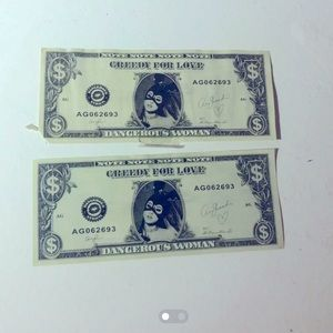 Two Ariana grande greedy dollars